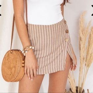 Cancun Sunset Striped Skort